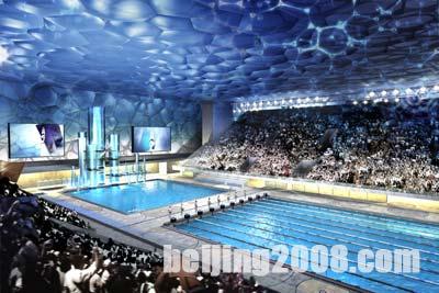 Il Water Cube di Beijing, la piscina a risparmio energetico che nel 2008 ospiterà le Olimpiadi